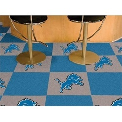 Detroit Lions Carpet Tiles Flooring