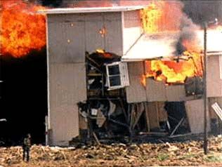 Waco Tragedy (1993):  The ATF raids the Branch Davidian compound in Waco, Texas and a seige results. The seige lasts for several weeks until a fire breaks out killing most of the cult members including leader David Koresh and several children.
