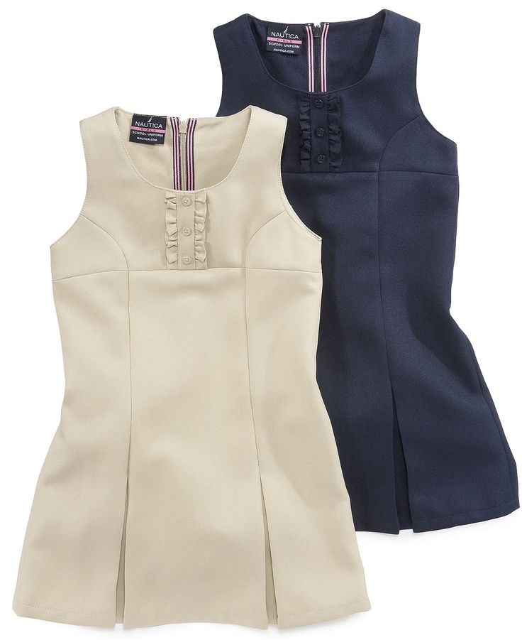 Love this dress! Nautica Kids Dress, Little Girls Uniform Pleated Jumpers - Kids Girls 2-6X - Macy's $20.40 #MacysBTS
