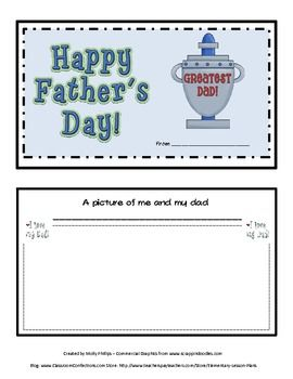 All dads love to get something special on Father's Day from their child. They especially like when children write out special messages. There a...