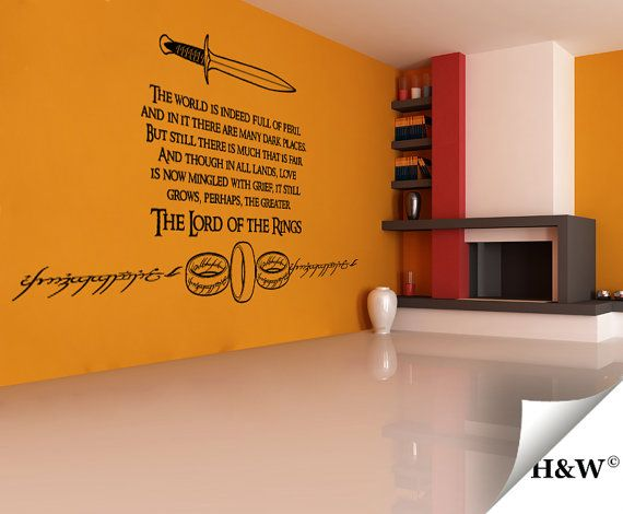 The Lord Of Rings Quote Wall Decals Home Decor By Homewall
