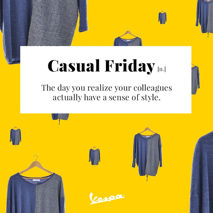 How's your style game today? | #Vespa #CasualFriday #VespaDictionary