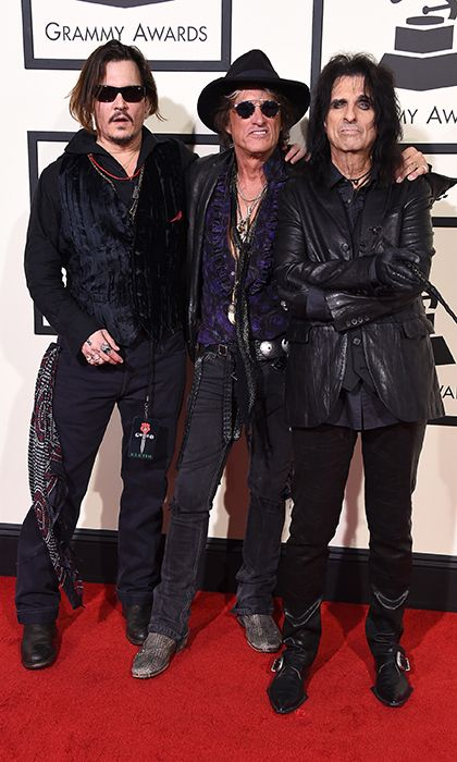 The Hollywood Vampires (From left: Johnny Depp, Joe Perry and Alice Cooper)