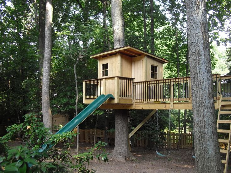 52 best treehouse ideas images on pinterest creative for Best backyard tree houses