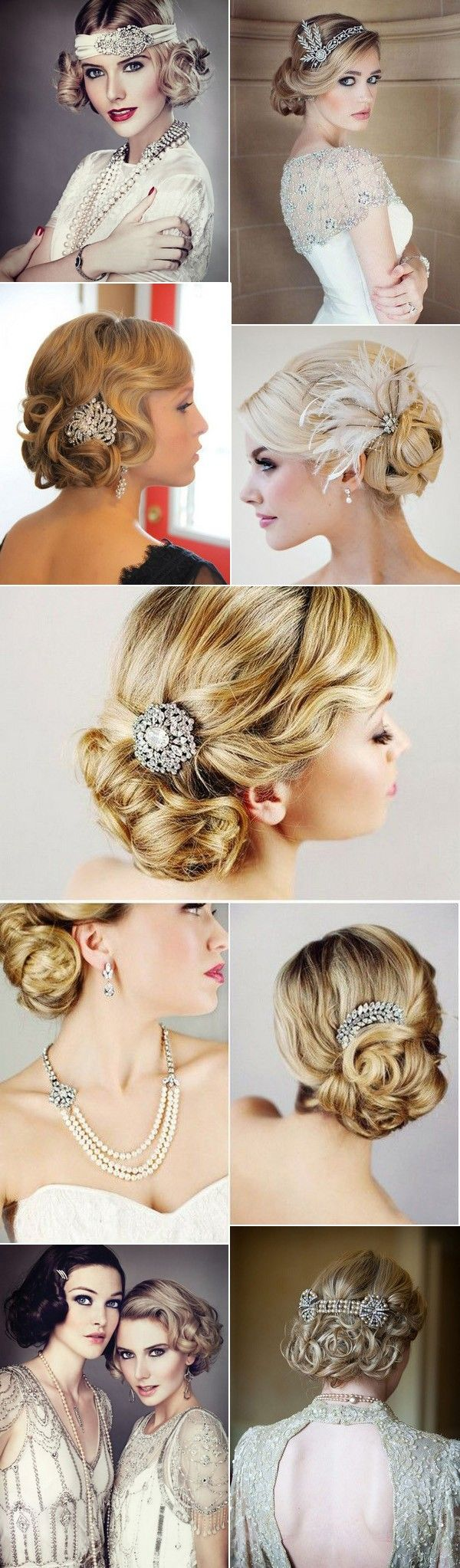 vintage great gatsby themed wedding hairstyles