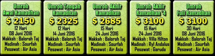 #PaketUmrohRamadhan2016