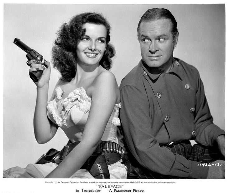 Jane Russell and Bob Hope.