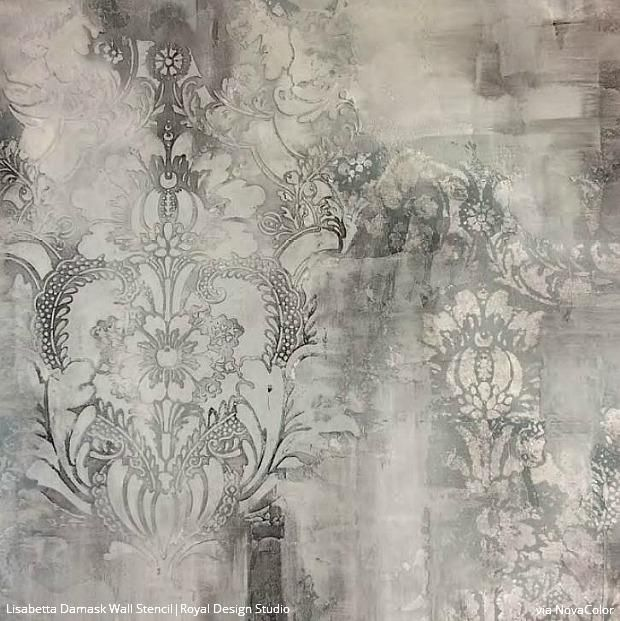 Royal Design Studio Wall Stencils Partners With Novacolor Textured
