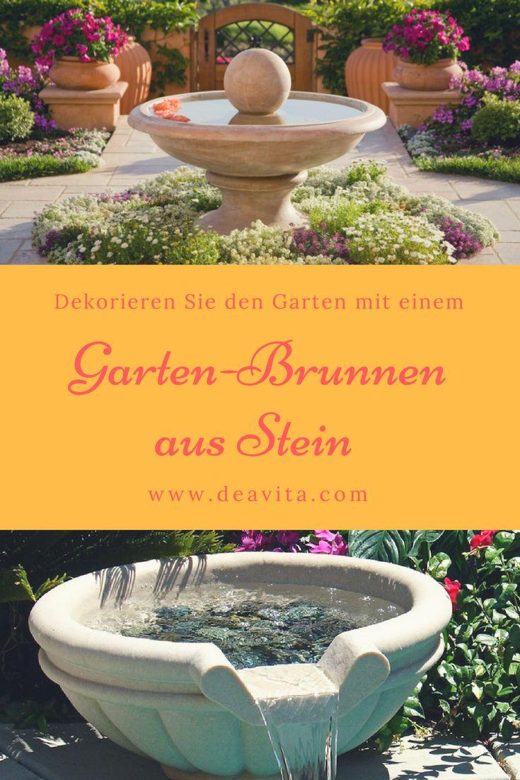 25+ Best Ideas About Gartenbrunnen Stein On Pinterest ... Feuer Und Wasser Im Garten Eine Gemutliche Kombination