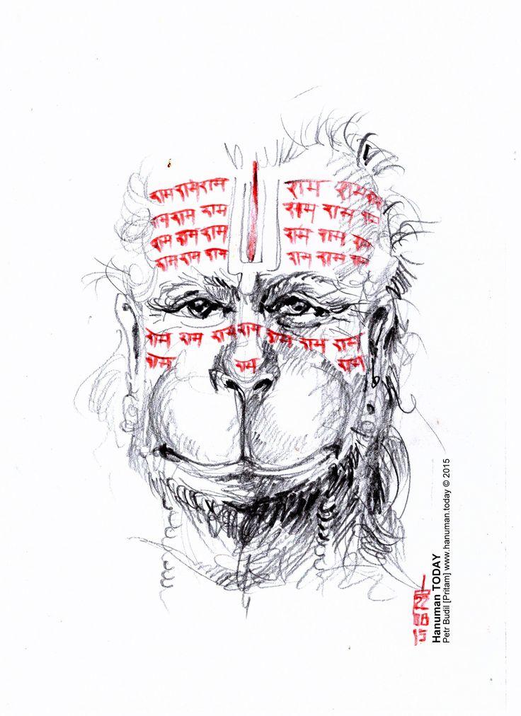 Saturday, August 22, 2015  Daily drawings of Hanuman / Hanuman TODAY / Connecting with Hanuman through art / Artwork by Petr Budil [Pritam] www.hanuman.today