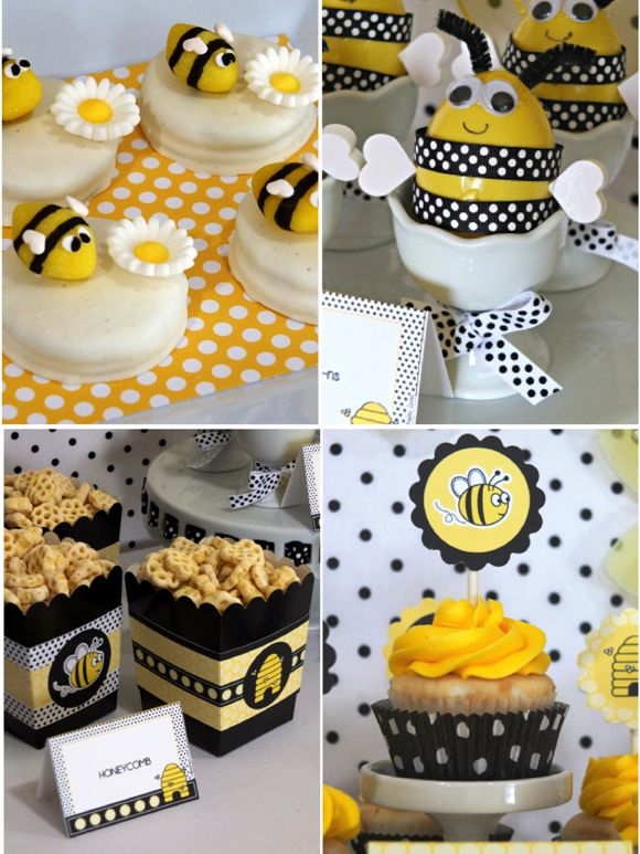 A Sweet As Honey Bee Birthday Party Desserts Table
