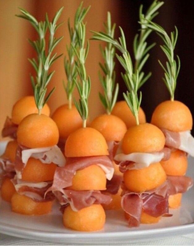 Botana de melon con serrano