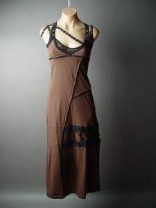 BROWN Military Punk Rock Grunge  Dress