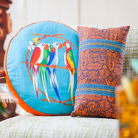 Disney Throw Pillow Cushion - Adventureland - Enchanted Tiki Room