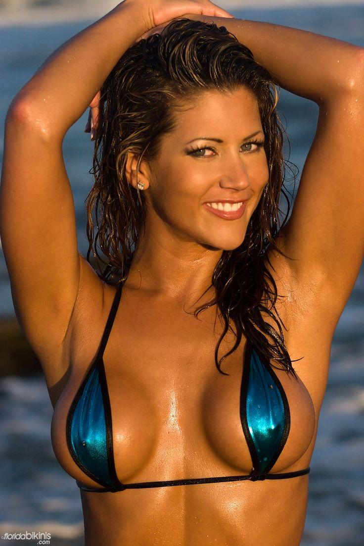 Randi Jackson Hooters Girl In Metallic Bikini Top  Bikini -9380