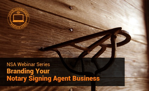 """Quoted as """"...the BEST 1 hour I have spent in years!!!!""""     Our webinar on Branding Your Notary Signing Agent Business is now available on demand with downloadable slides."""