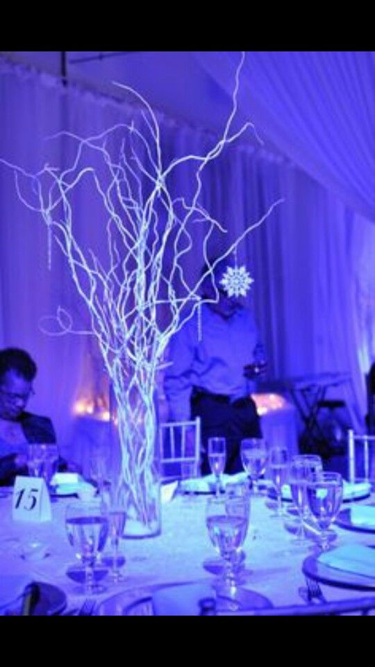 Elegant Centerpiece for a winter wonderland theme