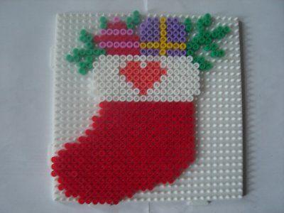 Christmas ornament hama perler by zabicra