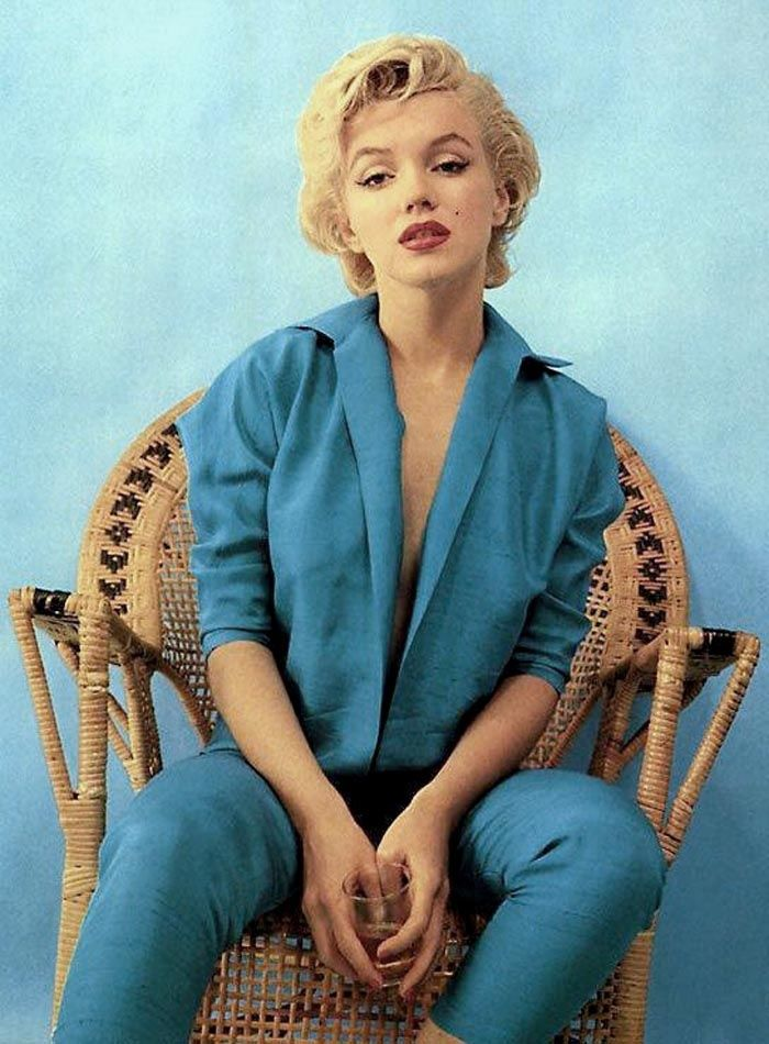 Marilyn Monroe Blue Wear This Pinterest Pastel Blue