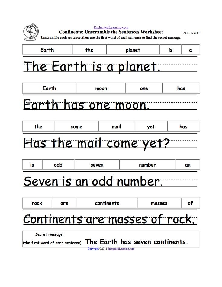 unscramble the sentences earth week 1st grade writing worksheets kids math worksheets 1st. Black Bedroom Furniture Sets. Home Design Ideas