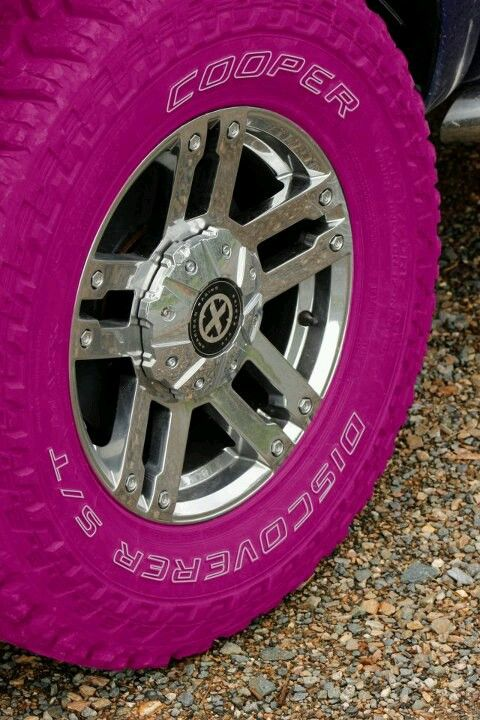 New pink tires from cooper... I want these!!!