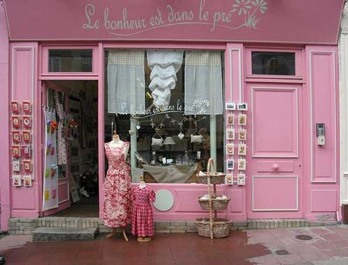 pink boutique: Pink Pink Pink, Stores Front, French Shops, Romantic Places, Luxury Houses, French Storefront, France, Dreams Life, Shops Front