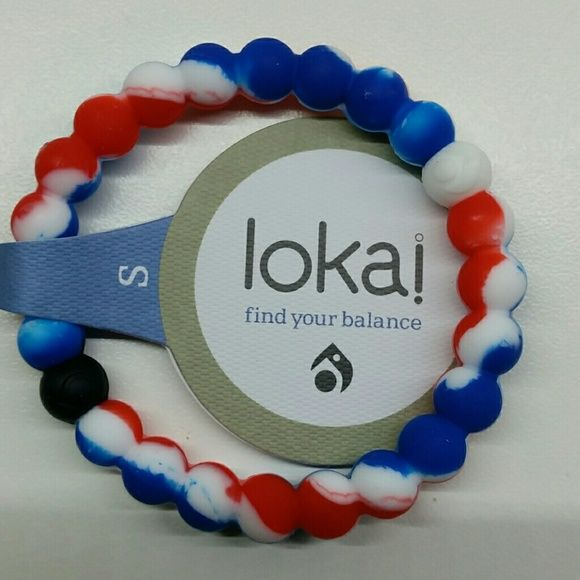 """"""" My America"""" - silicone bracelet The native and close to heart bracelet with the colors of the American flag. One piece - $7. Size Small & Medium Lokai Jewelry Bracelets"""