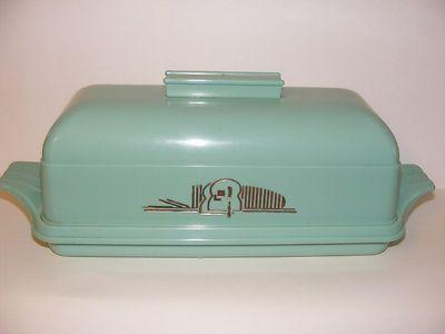 VINTAGE RETRO MID CENTURY PLASTIC LUSTRO WARE LOAFof BREAD BOX KEEPER TURQUOISE & 23 best Vintage Bread Boxes images on Pinterest | Vintage bread ... Aboutintivar.Com