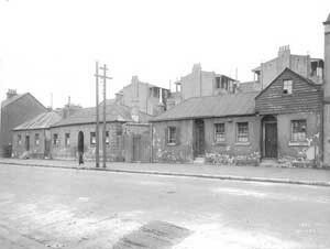 Some of the buildings that formed Princes St,Sydney and would be eventually demolished for the construction of the Sydney Harbour Bridge.