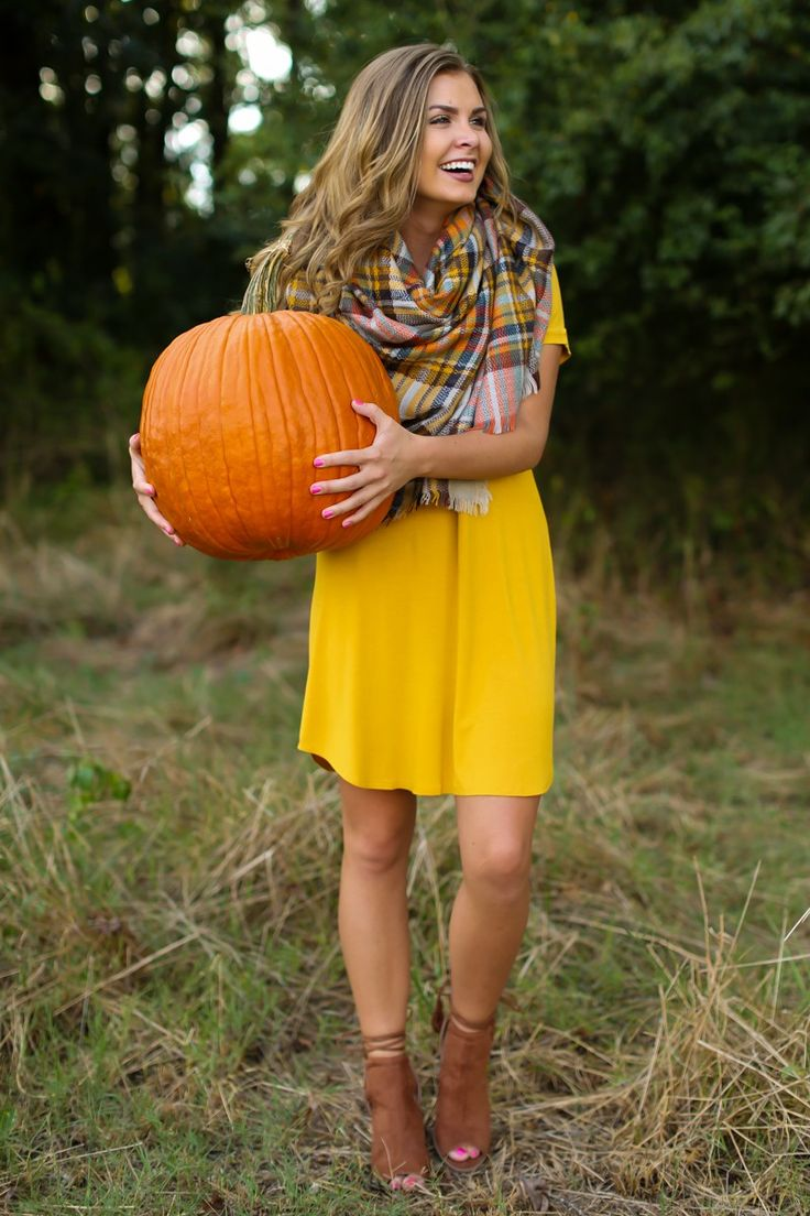 Down To A T-Shirt Dress In Goldenrod Yellow at reddressboutique.com
