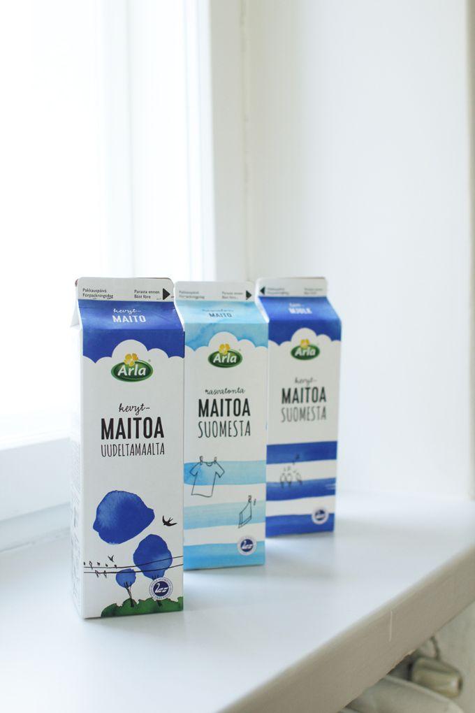 Finnish milk packaging