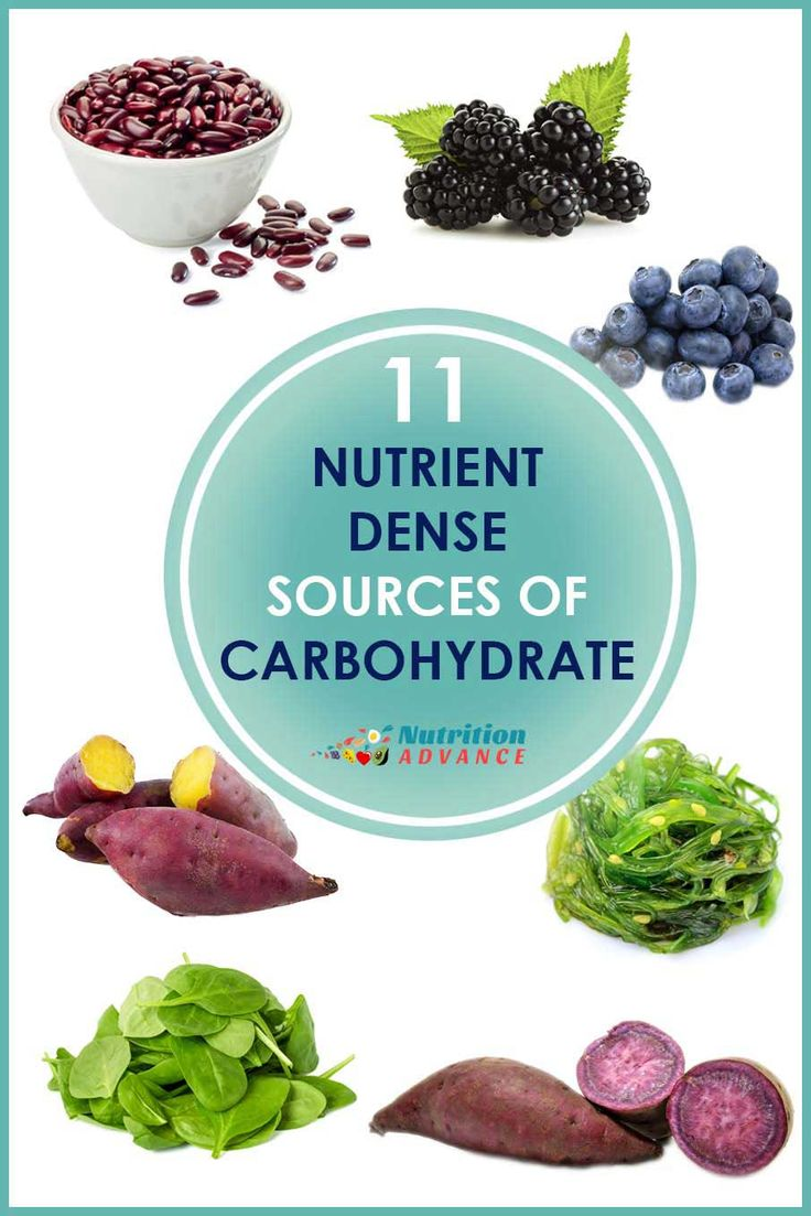 11 NutrientDense Sources of Carbohydrate Most nutrient