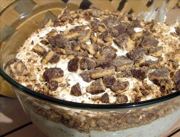 Best Ever Cookie and Cream Salad from Food.com:   								I tasted this salad at a campgound supper near Mt. Rushmore. I pleaded with the cook to share the recipe, and now I am happy to share it with you