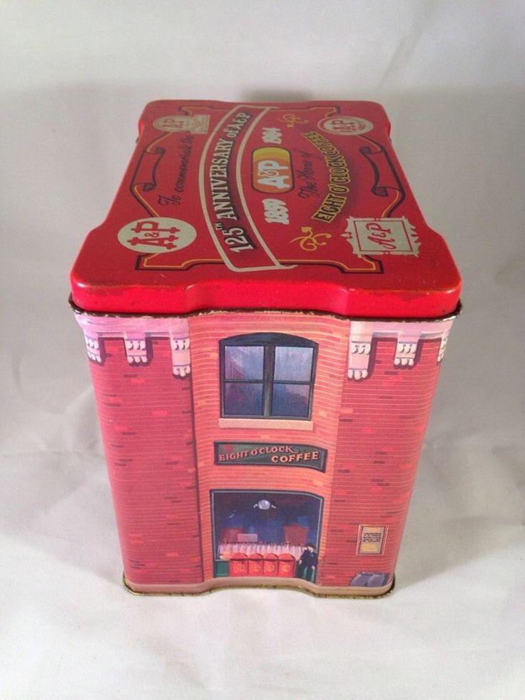 1984 A&P A & P 125th Anniversary Tin Box Eight O'Clock Coffee Nice Condition