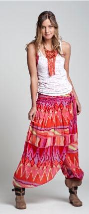 pantalón falda voile .www.umbrale.cl