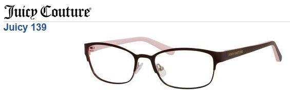 juicy couture 139 juicycouture eyewear glasses frame womens frames pinterest eyewear couture and frames