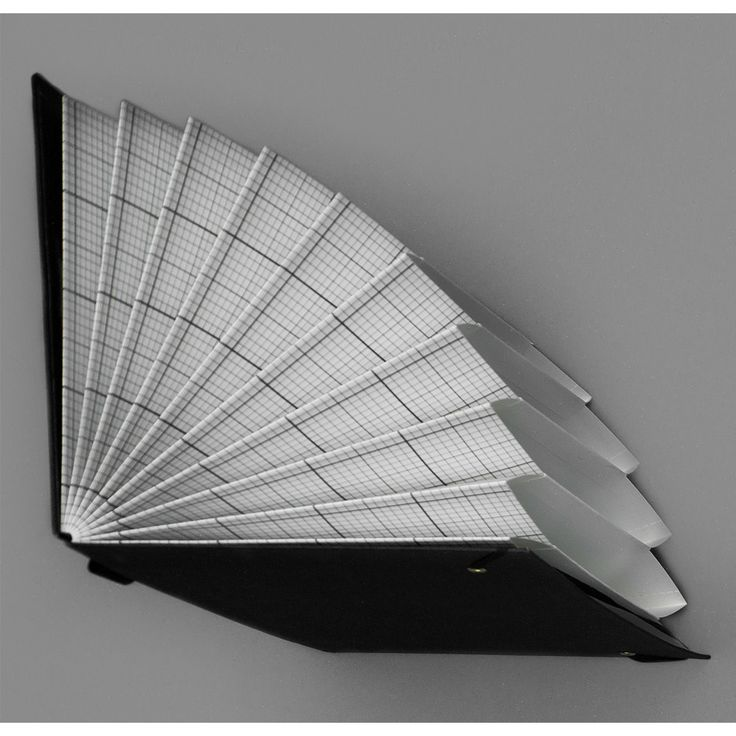 HAY plissè arkiv A5 svart | Ting