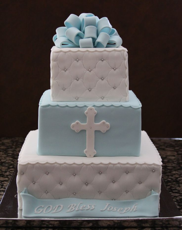 Christening Cake Designs For Baby Boy : The 25+ best ideas about Boy Baptism Cakes on Pinterest ...
