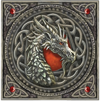 Celtic dragon head (how large would this have to be to be an awesome tat?)