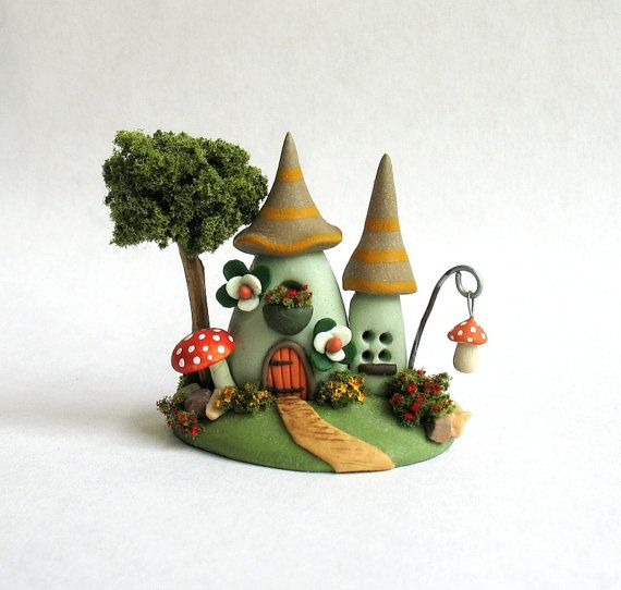 Miniature  Whimsical  Fairy Hobbit House OOAK by by ArtisticSpirit