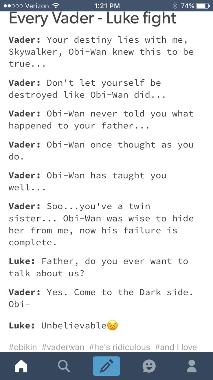 Vader ❤s Obi wan