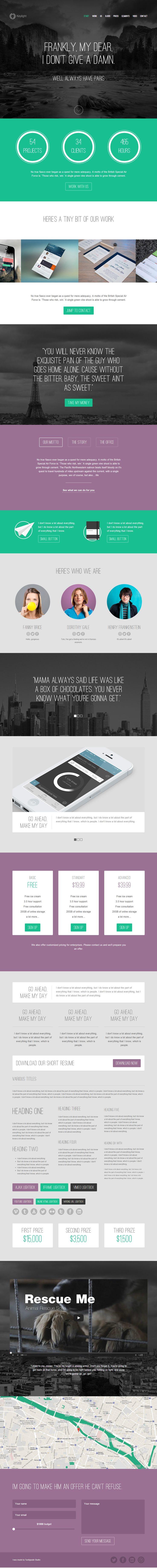 Keylight - Light & Flat Portfolio