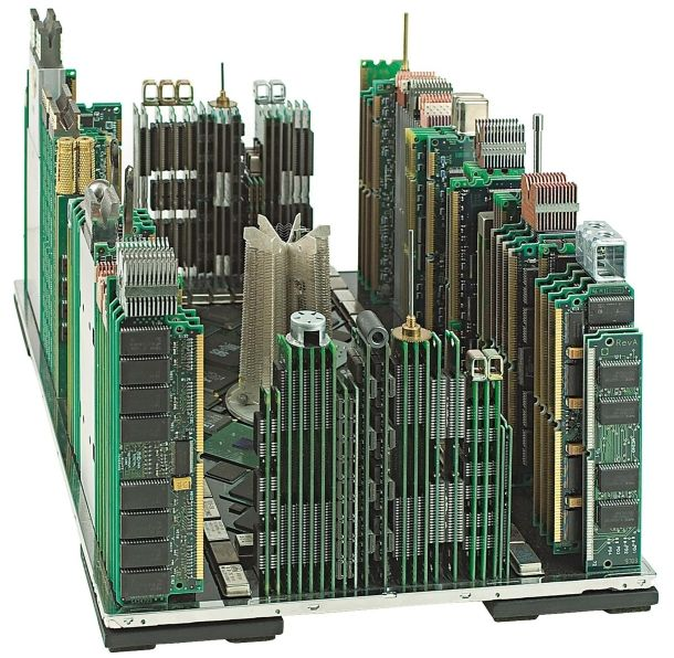 Old motherboards get a new lease on life in the hands of one Italian artist who makes art out of old computer parts.