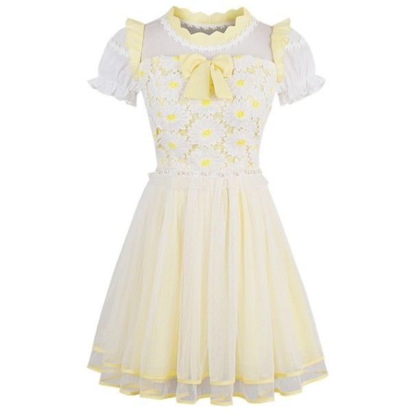 Nuoqi Womens Lolita Sweet Lace Off-Shoulder School Girl Buble Dress ($30) ❤ liked on Polyvore featuring dresses, lace dress, off-shoulder lace dresses, white dresses, white off-shoulder dresses and off the shoulder day dress