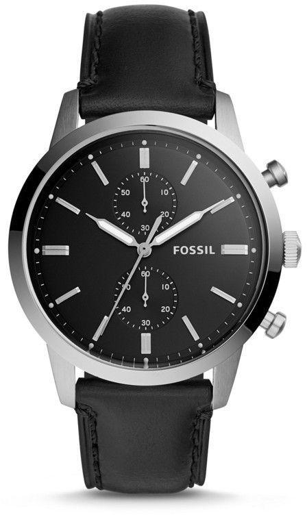 0f786db87ecf0 44mm Townsman Chronograph Black Leather Watch in 2019