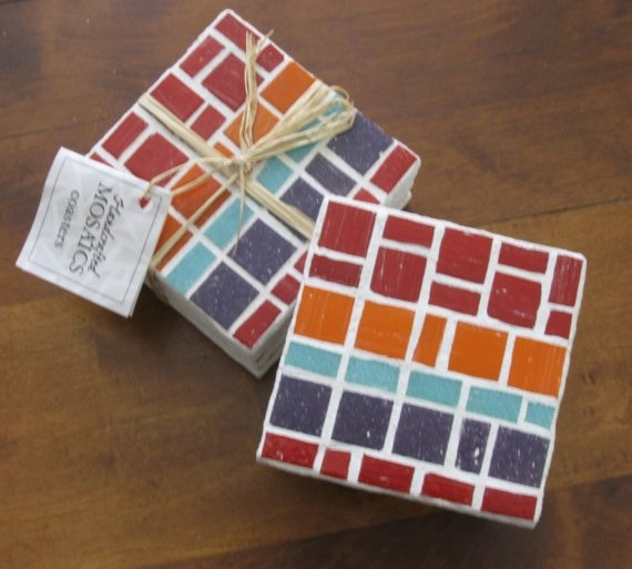 Love this idea for mosaic coasters
