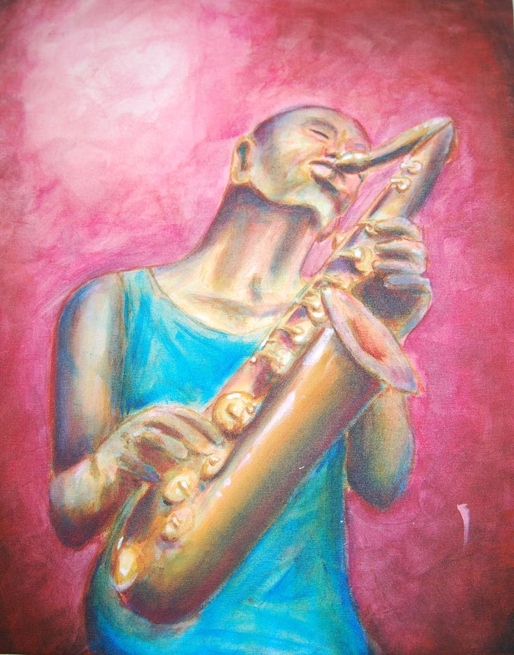 #Art #painting #abstract #expressionism #acrylic #lars #arne #kringstad #Moldejazz #saxophone