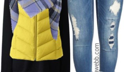 Plus Size Yellow Vest Outfit