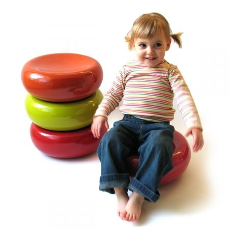 Bamboo Stool - EKOBO -- Cute as a button, this pint-sized stool is sturdy enough for the kid inside all of us. Ideal for a child's room, it is also a seating solution for small spaces. Upside-down, the MINI MELLO is an aesthetic and discreet storage for toys.