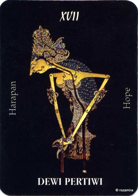 XVII. The Star (Dewi Pertiwi) - Tarot Wayang (Indonesia) by Ani Sekarningsih